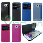 Custodia S-View per Samsung Galaxy S6 Edge G925F flip cover case finestra nuova