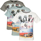 Mens T Shirt Soulstar New Graphic Miami Print Crew Neck Tee Summer Fashion Top