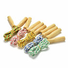 Kids Childrens Skipping Jumping Rope Wooden Handles Kids Excercise Toy