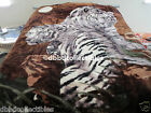 NEW!! 2 PLY QUEEN KOREAN style MINK blanket WHITE TIGER SHERPA exact shipping!!