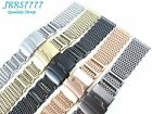 22MM STAINLESS STEEL SHARK MESH BRACELET Watch Ø1.2mm multicolored Wristband new