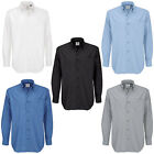 Men B&C Collection Button Down Collar Long Sleeve Formal Shirt Top Size S-6XL