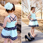 2015 Kids Baby Girl Summer Princess Flower Tutu Dress Party Formal Lace Skirt