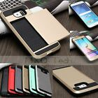 Card Pocket Wallet Hybrid Hard PC+Soft TPU Case Cover For Samsung Galaxy S6&Edge