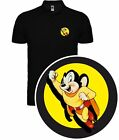 CAMISETA POLO T-SHIRT SUPER RATON CARTOON VINTAGE RETRO MIGHTY MOUSE SIL DAv002p