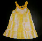 NWT: New Chaps Yellow Stripped Summer Dress, 18 mo or 3T, Rtls $32