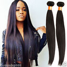 "10""-30""Hot INDIAN 6A 100g/pc Human Hair Weft Extensions Silky Straight Black"
