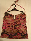 Attention Swimwear S or L Python Pink Swim Halter Tankini Swimsuit Top NWT