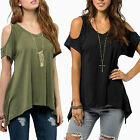 Sexy Womens Off Shoulder Short Sleeve Loose Casual T-Shirt Shirt Tops Blouse