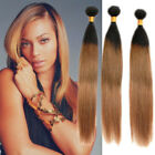 New Fashion 50g/pc 1b/4/27# Ombre Straight Human Hair Weaves 6A Hair Extensions