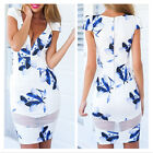 Top Hot UK Womens Sexy Lace Mini Floral Dress Ladies Summer Beach Party SunDress