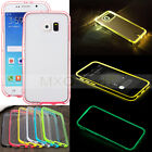 Incoming Call LED Blink Flash Light Frame+Clear Case Cover For Samsung Galaxy S6