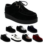 Womens Beetle Crushers Gothic Punk Retro Brothel Creeper Platform Shoes UK 3-9