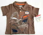NWT: New OshKosh Brown Shark Surfing Shirt, 6, 9 or 18 Months, Rtls $20