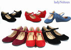 Kyпить NEW Fashion Round Toe Strap Low Platform Wedge Heel Women's Shoes Size 5 - 10 на еВаy.соm