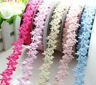 """5yd 1""""(25mm) 3D Floral Polyester Ribbon Fabric party wedding Trim L2260-2265"""