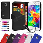 Wallet Flip Leather Case Cover For Samsung Galaxy S5 Mini Free Screen Protector