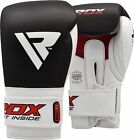 RDX Leather Gel Boxing Gloves Fight Punch Bag MMA Muay Thai Grappling Pad MT AU