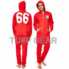 FA ENGLAND 66 JUMPSUIT UNISEX ALL IN ONE MENS LADIES ONEZIE HOODED ZIP ONESIE