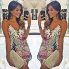Fashion Women Sexy Leopard Print Clubwear Bodycon Playsuit Party Jumpsuit Shorts