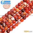 "Natural Round Faceted Blue Fire Agate Beads Jewelry Making Loose Beads 15""GBeads"