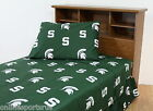 Michigan State Spartans Sheet Set Twin Full Queen King Size Team Color