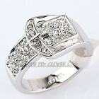 Fashion Belt Buckle Ring 11mm Width 18KGP use Rhinestone Crystal Size 5.5-10