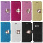 Luxury Bling Flip Card Holder Wallet PU Leather Stand Case Cover for HTC One M9