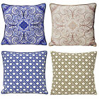 Moroccan Style Scatter Cushion Cover With Geometric Florals – 100% Cotton