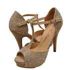miami vice fancy dress - Women's Shoes Blossom Vice 57X Embellished Platform Dress Sandals Nude *New*