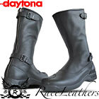 DAYTONA CLASSIC OLD TIMER RETRO BLACK MOTORCYCLE MOTORBIKE BIKE BOOTS