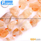 """Natural Assorted Stones Freeform Crude Raw Beads For Jewelry Making Strand 15"""""""