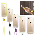 Cell Phone Case Cover With Rope Strap Acrylic Case for iPhone6, 6 Plus, SE