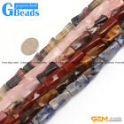 9x20mm Twist Column Gemstone DIY Jewelry Crafts Making Loose Beads strand 15""