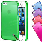NEW HARD BACK SLIM CRYSTAL CASE COVER FOR APPLE iPHONE 5 5S & SCREEN PROTECTOR