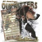 WALKER COON HOUND, HUNTING, DOG, ALL AMERICAN OUTFITTER, New T-Shirt