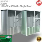 Absco Aviary Bird Shed 1.52mW x 0.78mD x 1.95mH - Zinc/Pale Eucalypt