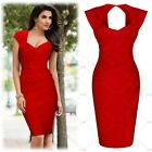 Women Sexy Elegant Cocktail Evening Party Bridesmaids Slim Cut Out Pencil Dress