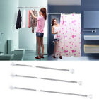New Extendable Stainless Steel Shower Curtain Rod Retractable 28-102inches US