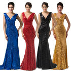 Sparkly Women Mermaid Long Cocktail Fishtail Evening Party WEDDING Ball Dresses