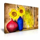 LARGE Sunflower Vintage Canvas Wall Art Picture Print ~ More Size