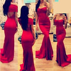 Sexy Red Strapless Maxi Long Dress Women's Trendy Backless Evening Dress USWB