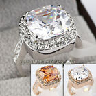 A1-R232 Solitaire Simulated Gem Fashion Ring 18KGP Swarovski Crystal Size 5.5-9