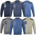 Mens Fashion Quilted Top Crew Neck Jumper Sweatshirt Pocket  S-XL
