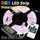 5m 5050 IP65 300 SMD LED RGB Strip + 10 Key RF Remote Controller + Power Supply