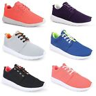 Womens Ladies Lace Up Sports Mesh Running Casual Trainers Pumps Flat Shoes Size
