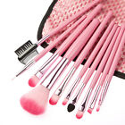 10 Pcs Synthetic Makeup Brush Set Cosmetics Foundation blending blush with Case