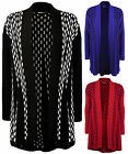 New Plus Size Womens Long Sleeve Flared Top Ladies Open Knitted Cardigan 14 - 20