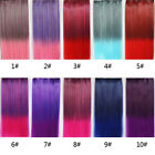 10 Colors One Piece Colorful Straight Hair Extensions Two-Tone Color 5 Clip