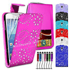 Flip Leather Wallet Case Cover For Samsung Galaxy S4 Mini i9190 Screen Protector